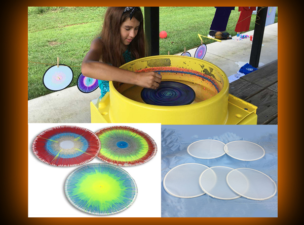 Spin Art Collapsible Frisbees